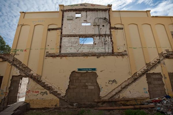 El antiguo teatro Pérez Minik se encuentra en un importante estado de deterioro. | F. P.