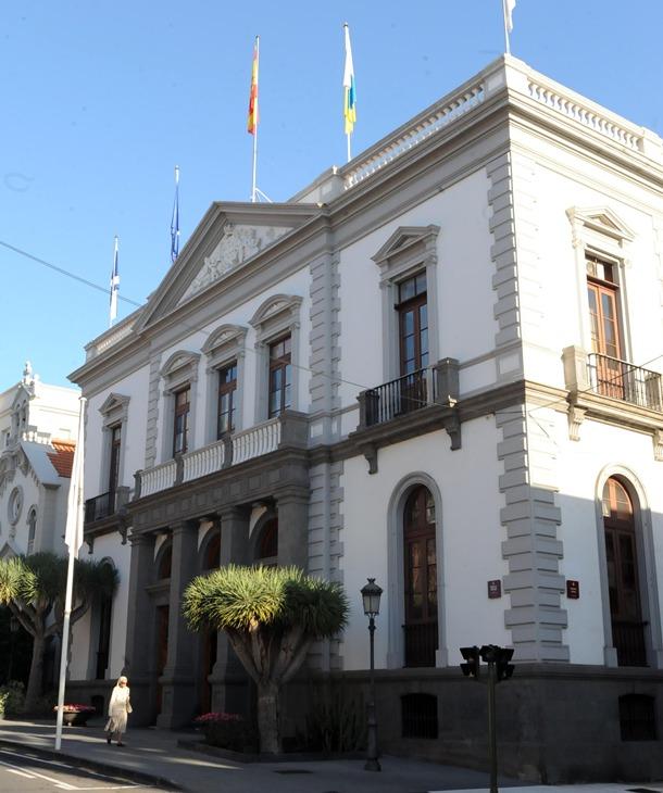 Fachada del Ayuntamiento de Santa Cruz de Tenerife.