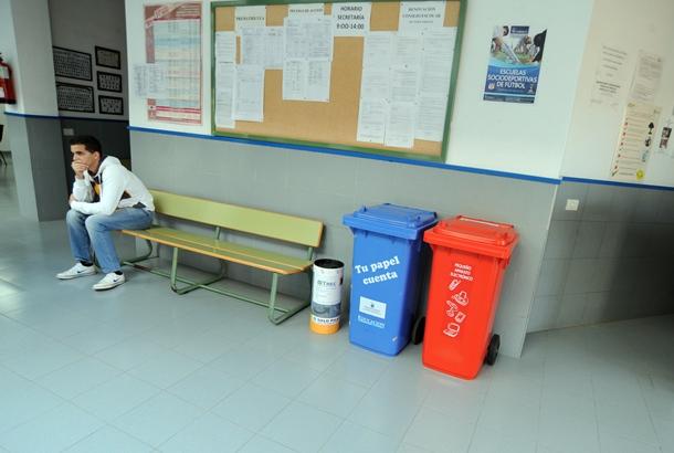 separación de residuos IES Punta Larga