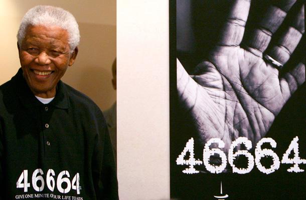 En el anuncio del concierto '46664' del año 2007. / REUTERS