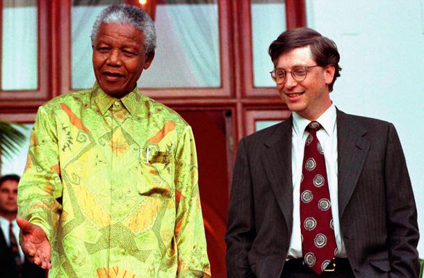 Madiba y Bill Gates, durante un encuentro en 1997. / REUTERS