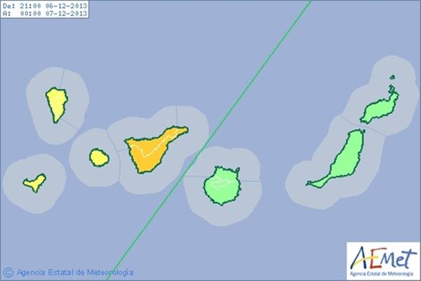Aviso Naranja Tenerife
