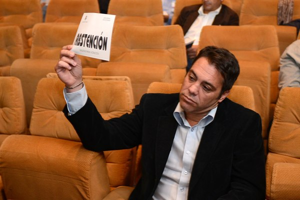 Pier en la Junta del pasado viernes. | SERGIO MÉNDEZ
