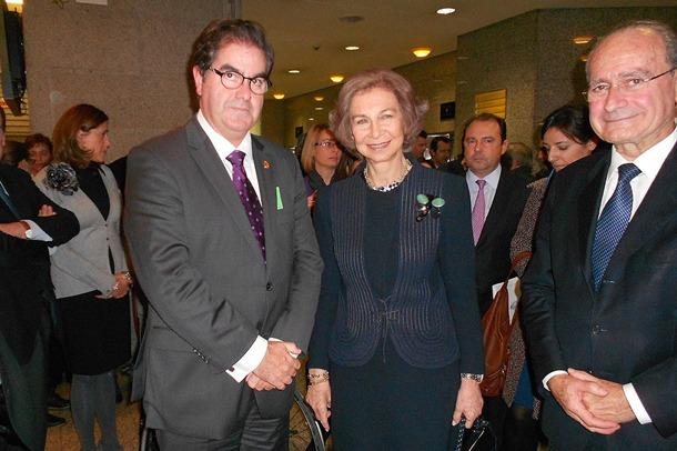 Francisco José Niño, junto a la reina Sofía