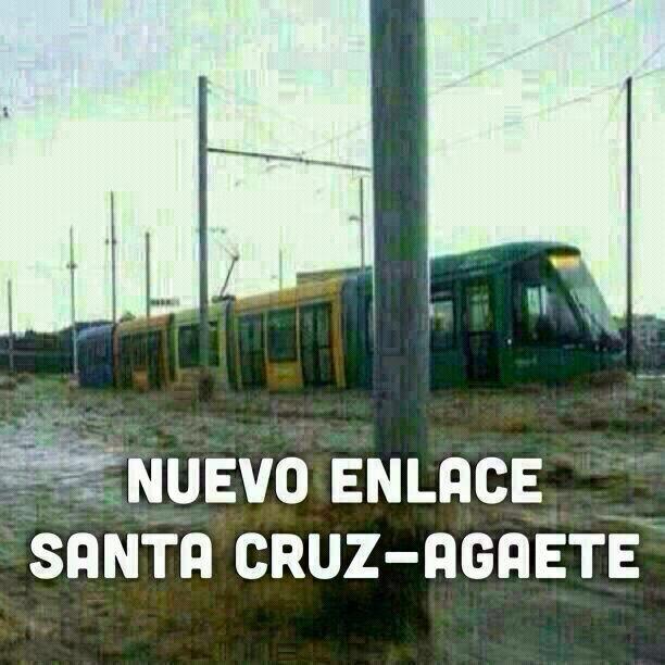 El nuevo enlace entre Santa Cruz y Agaete es un tranvía