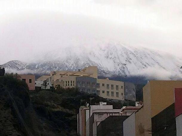 El Teide desde Icod de Los Vinos. | TWITTER