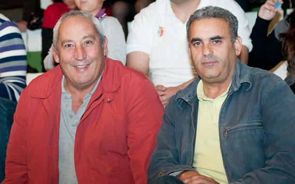 Heraclio Díaz, junto a Antonio Hernández