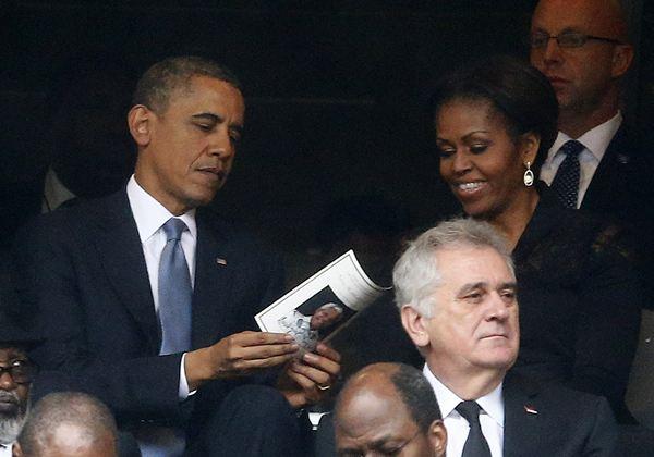 Barack Obama, en el entierro de Mandela. /REUTERS