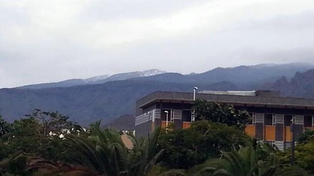 Nieve en las cumbres de Ifonche. | M.MENESES