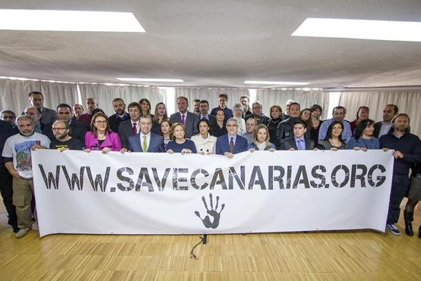 protesta contra los sondeos en Madrid
