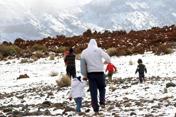 Día de excursión en el Teide. | JAVIER GANIVET