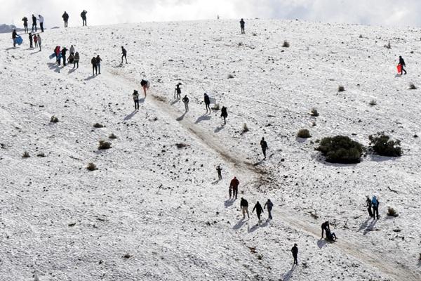 Los tinerfeños aprovecharán la jornada en el Teide. | JAVIER GANIVET