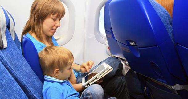 uso tablet smartphone avion