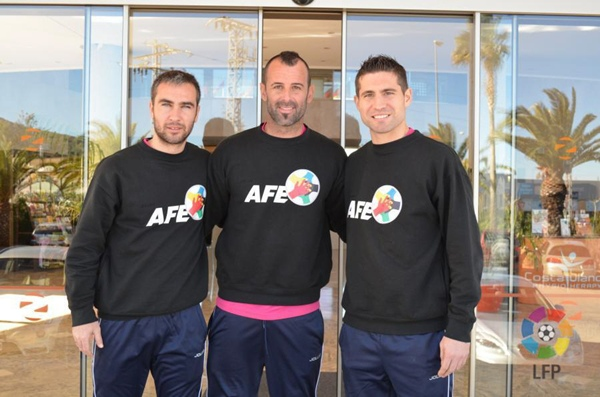 Ayoze Díaz, Toni Doblas y Xavi Moré