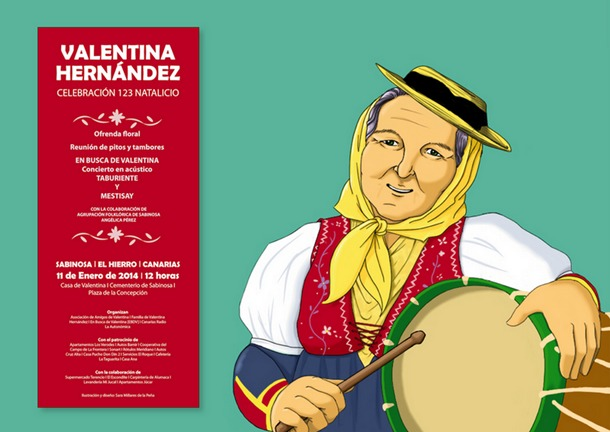 Cartel natalicio Valentina
