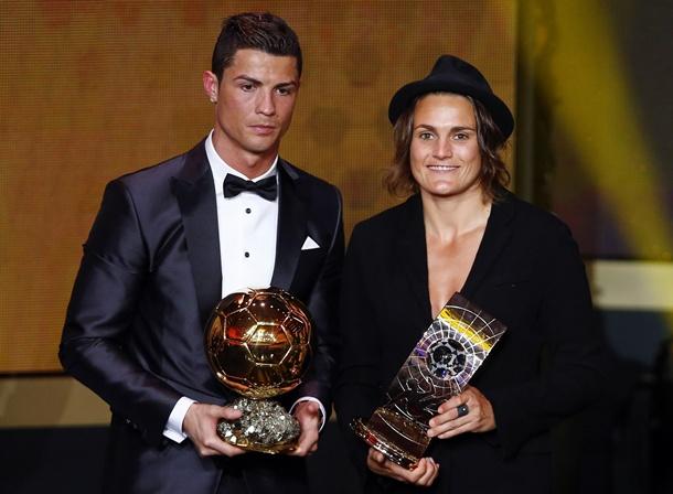 Cristiano Ronaldo y Nadine Angerer