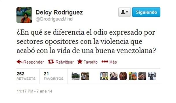 Ministra venezuela Delcy Rodríguez