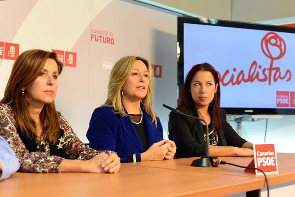 Dolores Padrón, Trinidad Jiménez y Patricia Hernández