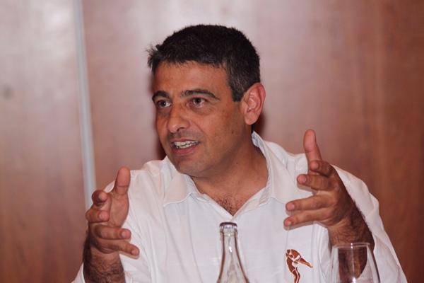 Germán Rodríguez, presidente de la Federación Nacional de Lucha Canaria.   NOEMI DE LUIS