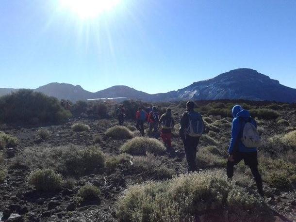 Uno de los grupos de voluntarios que buscan a Víctor Teni en Las Cañadas. | DA