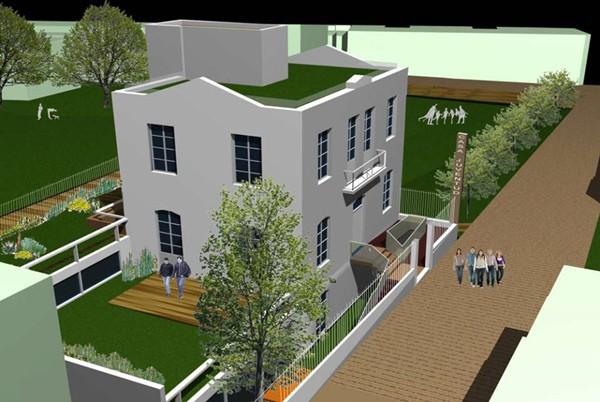 Infografía de cómo quedará el acceso y el entorno de la Casa Siliuto. / DA