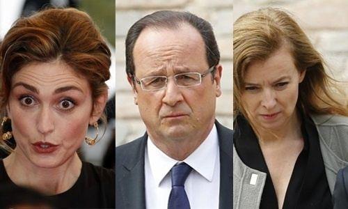 Julie Gayet, François Hollande, Valerie Trierweiler
