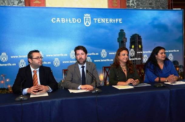 Miguel Ángel Pérez, Carlos Alonso, Cristina Valido y Coromoto Yanes,