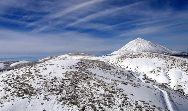 Imágenes de la nevada en El Teide