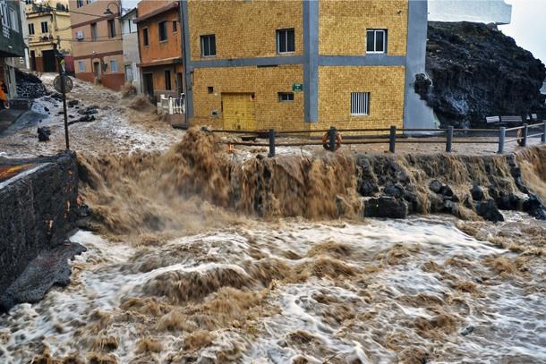Lluvias torrenciales en Punta Prieta diciembre de 2013
