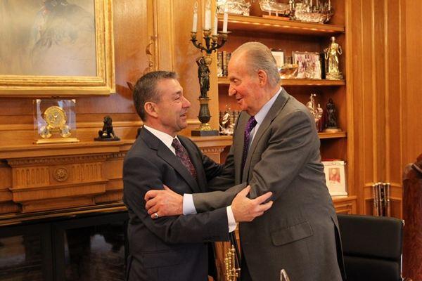 Reunión entre el Rey y Paulino Rivero en la casa real