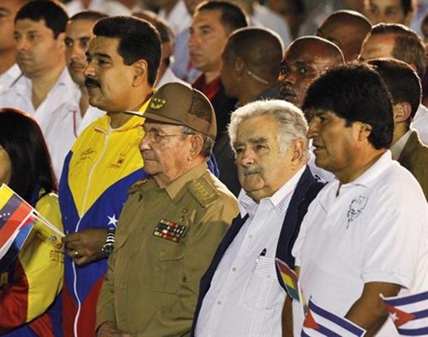 Raul Castro Nicolas Maduro Evo Morales
