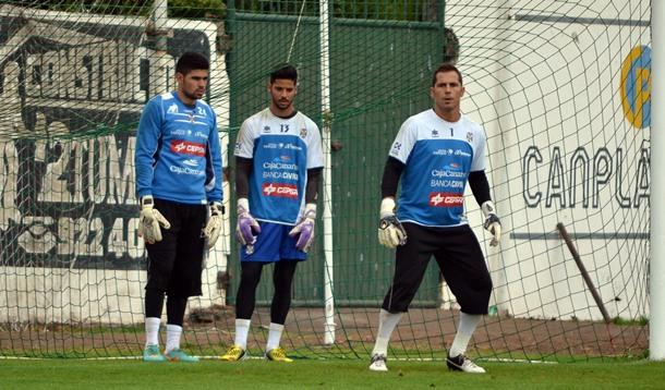 Roberto Gutiérrez, Nauzet García y Sergio Aragoneses porteros CD Tenerife