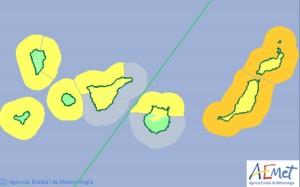 Previsión de los avisos para Canarias este sábado según la Aemet. | DA