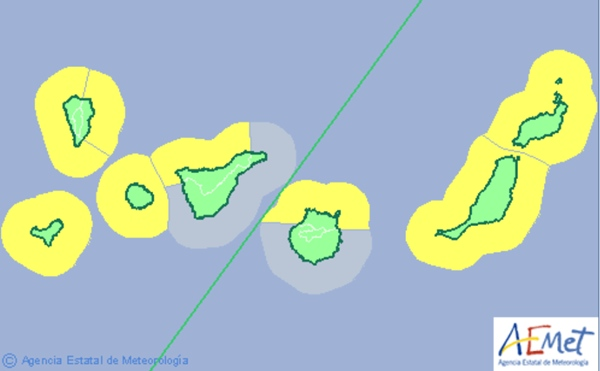 La Aemet ha activado el aviso amarillo por fuerte oleaje. | DA
