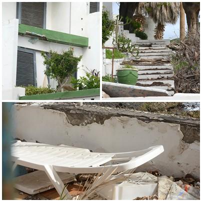 El estado ruinoso del hotel Tenerife Tour es evidente en todas sus dependencias; algunas, como la piscina, en dominio público. / SERGIO MÉNDEZ