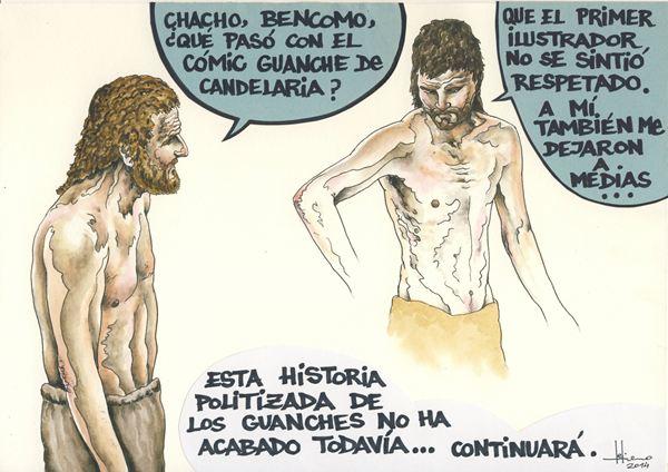 Fragmento del cómico que ha enfrentado al dibujante y al alcalde de Candelaria
