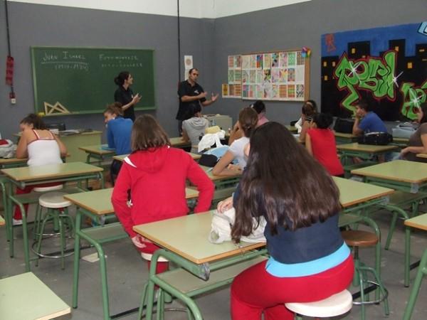 IES Santa Ana clase alumnos educación