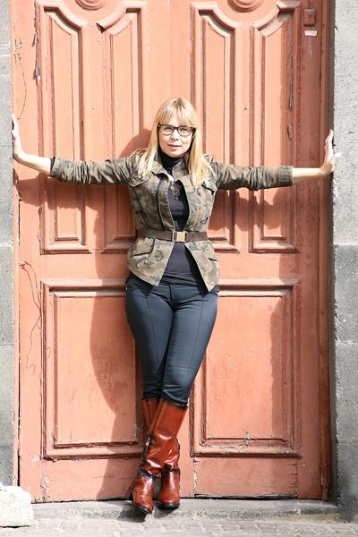 Cristina Hernández durante la sesión de fotos