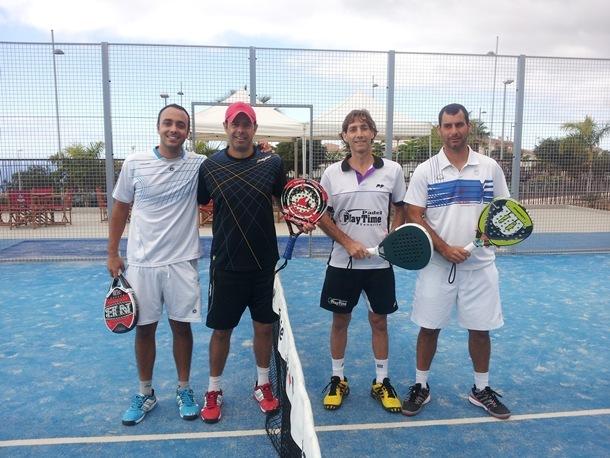 finalistas torneo de pádel El Galeón