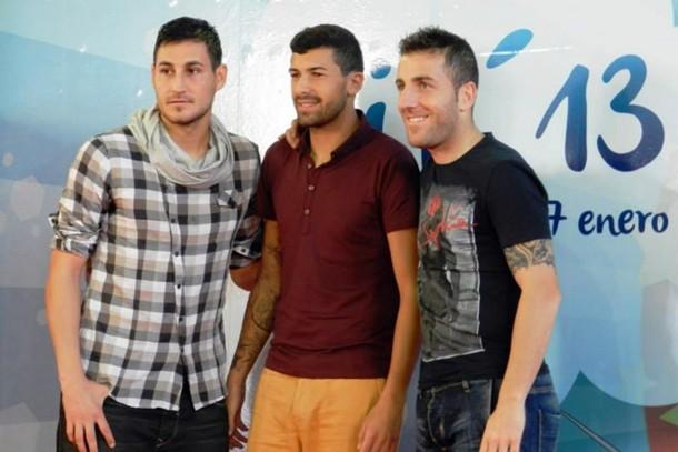 Baltasar Rigo, Alberto Jiménez y Óscar Rico,