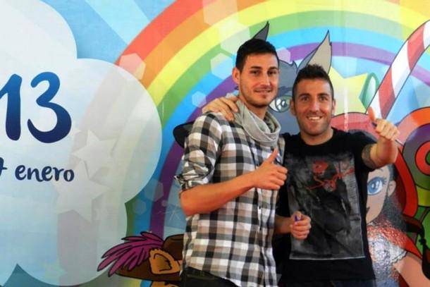 Baltasar Rigo y Óscar Rico,  jugadores CD Tenerife en el PIT