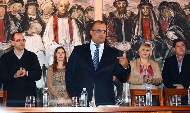 Pedro González toma de posesión de Pedro González como presidente de la Tinerfeña