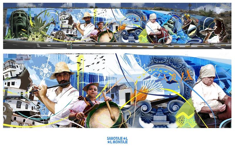 mural sabotaje al montaje