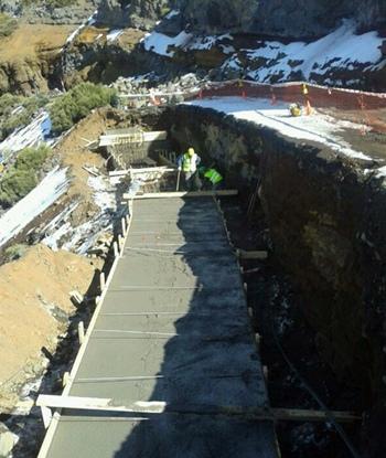 obra carretera de la Esperanza al Teide TF-24