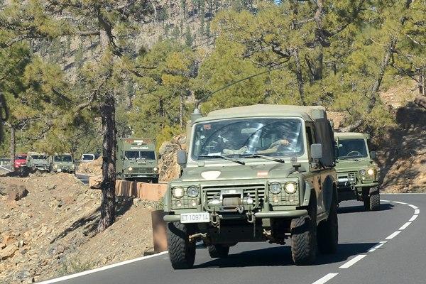 La gran novedad fue la presencia de los militares en la zona. | S. MÉNDEZ