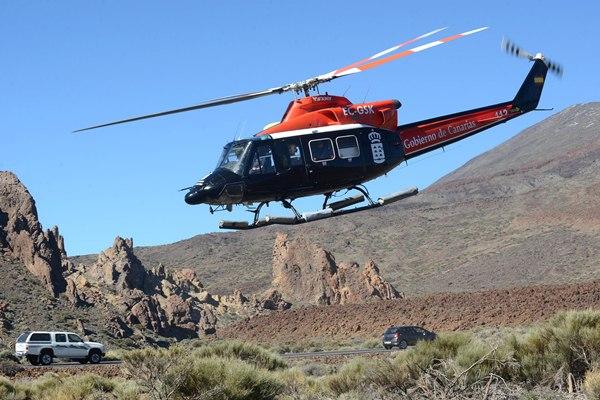 El soporte aéreo, en este caso el del GES, no faltó a la cita en el Parque Nacional. | SERGIO MÉNDEZ