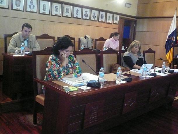 portavoces oposicion Pleno Candelaria