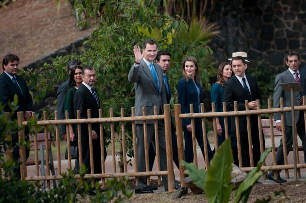 Visita principes de Asturias Felipe y Letizia al Palmetum