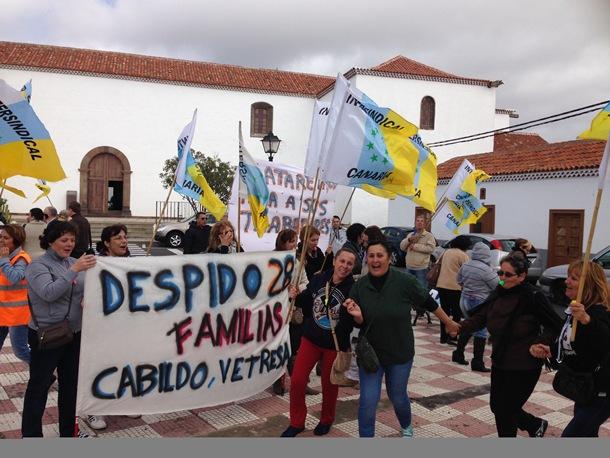 MANIFESTACION ARICO trabajadores PIRS.