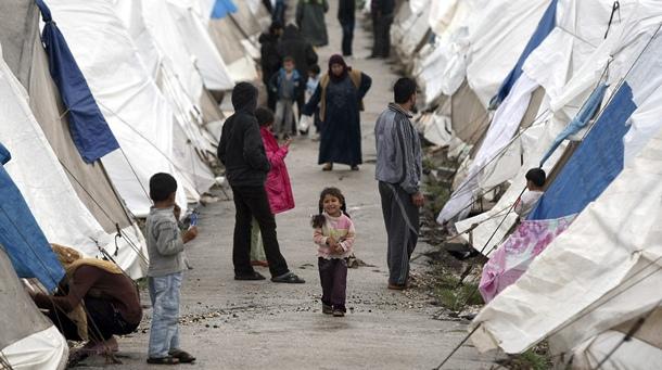 refugiados y desplazados Sirios